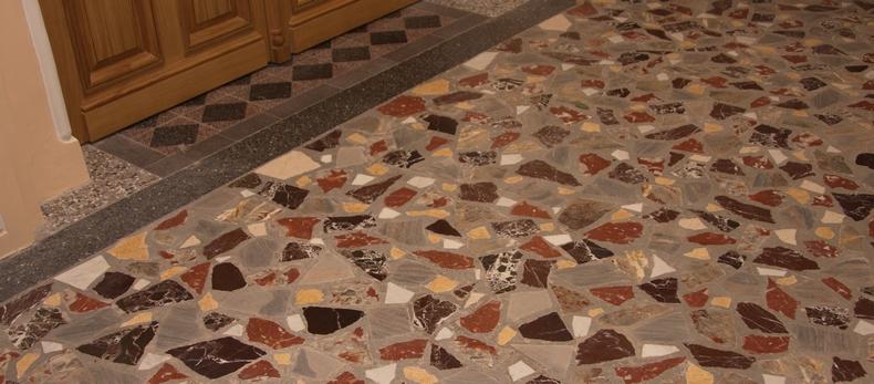 мозаичный бетон терраццо